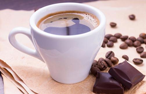 Creme de café e chocolate